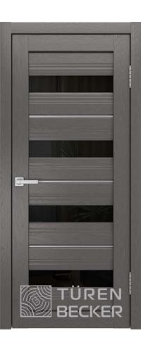 Дверь межкомнатная Turen Becker S41 ПО ясень графит SOFT TOUCH