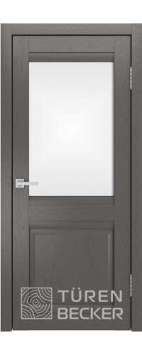 Дверь межкомнатная Turen Becker S8 ПО ясень графит SOFT TOUCH