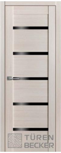 """Дверь межкомнатная Turen Becker М06 Клен (стекло – черный лакобель)  серия """"М"""""""
