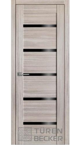 """М06 Неаполь серый (стекло – черный лакобель) серия """"М"""""""