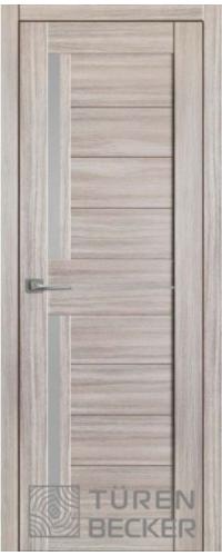 "Дверь межкомнатная Turen Becker М13 Неаполь серый (стекло мателюкс) серия ""М"""