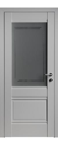 Дверь межкомнатная Turen Becker U2 светло-серый ПО