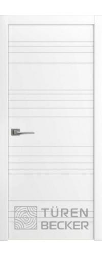Дверь Соммер ПГ белая эмаль эмаль