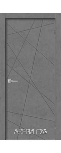 Дверь межкомнатная GEO-1 ПГ - Бетон графит