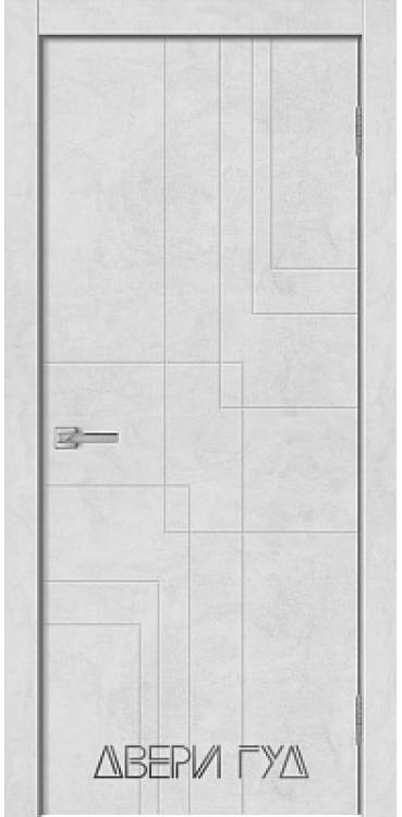 Дверь межкомнатная GEO-3 ПГ - Бетон снежный