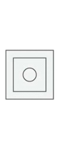 Декор (розетка) телескоп. (1 шт.) серый камень, латте, белая эмаль, слоновая кость