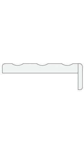 Пилястра телескоп. (1 шт.) серый камень, латте, белая эмаль, слоновая кость