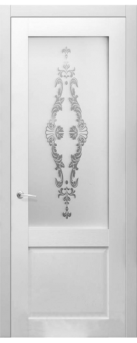 Дверь Илия Белый рифленый 10.00